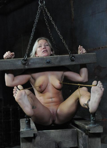 Hot blonde loves pain and torture