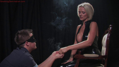 Smoking Domina - Mistress Lucy Zara Dominates Slave