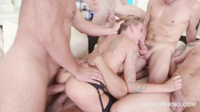Hard 5on1 Anal Orgy With Double Anal