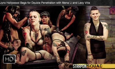 StraponSquad - Jul 18, 2014 - Jynx Hollywood Begs for Double Penetration