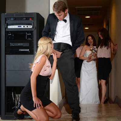 Two Playful And Sexy Bridesmaids At The Wedding