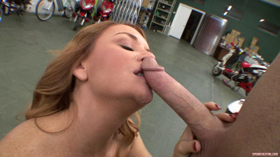 Janet Mason Uses A Straw To Gobble Down Hot Loads Of Cum