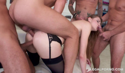 4on1 Anal Gangbang With DP & Dap For Milena Devi