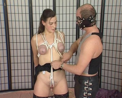 Big tits in bondage