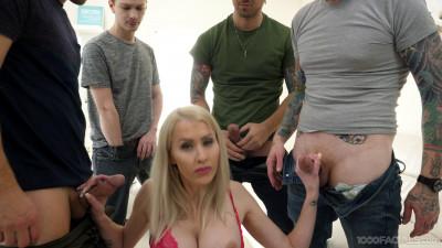 Busty Milf Katie Monroe Enjoys Rough Blowbang