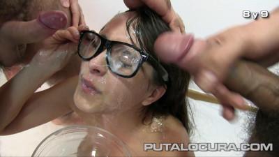 Cum bath for Nikki Litte