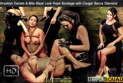 StraponSquad — Oct 10, 2014 - Brooklyn Daniels & Mila Blaze Love string Bondage