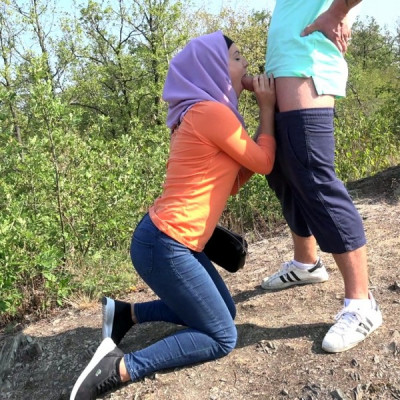 Czech muslim Mila Fox with her boyfriend FullHD 1080p
