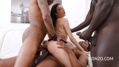Emily Pink Vs three bbc fuck session with DP, Dap and Tap
