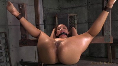 SexuallyBroken - Sep 19, 2014 - Little spinner Tinslee Reagan belted down