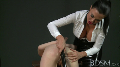 Mistress Jasmine on sub Lola - dominatrix, lesbian, watch, domina