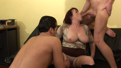 huge tit mature fucked by 2 guys