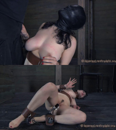 Tight bondage, domination, spanking and torture for naked girl