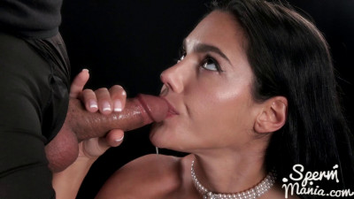 Apolonia Lapiedra Sucks A Bunch of Dicks with Cum in Her Mouth