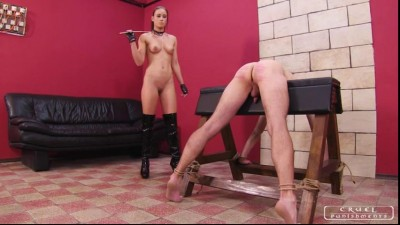 Testing the new slave (english, testing, hand, lady)