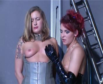 Lady Domenika gives her two lovely slaves the opportunity