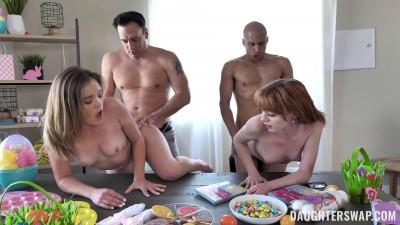 Katie Kush, Cecelia Taylor – Naughty Bunnies Easter Swap FullHD 1080p