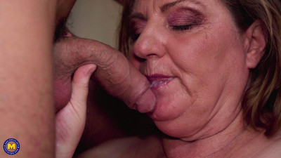 Description Curvy big breasted Jana loves younger muscled men