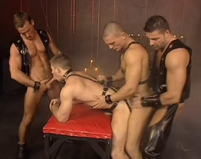 Brutal Gangbang With Leather Fuckers