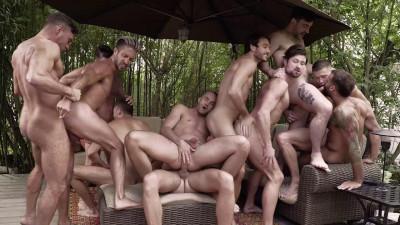 11-Man Fire Island Bareback Orgy Part 02 HD