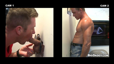 Troy takes a spin at the gloryhole (Troy Halston & Tanner Wayne)