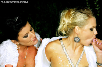 Sexy Chicks Get Fucked and Golden Showered With Pride