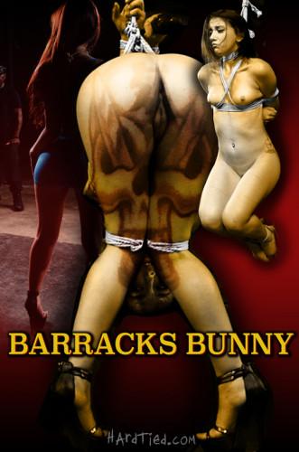 HardTied Mandy Muse Barracks Bunny!