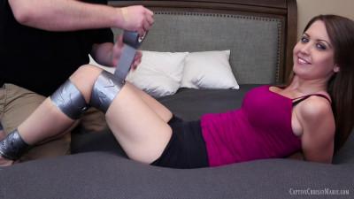 Captive Chrissy Marie Webcam Tape Challenge