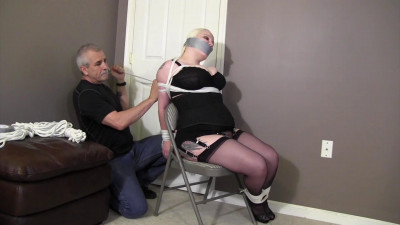 Vicious Vamp-Tying up his 's full figured teacher!