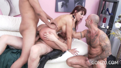 Hot milf Syren De Mer in rough gangbang with DP, Dvp & Dap