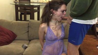 Throat Fucked Worthless Slut