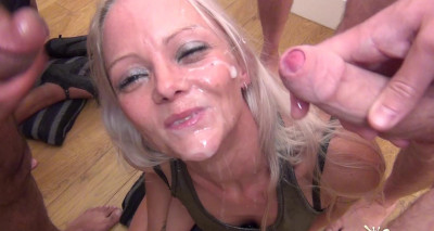 Layla Takes Another Face Full Of Jizz