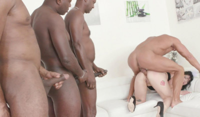 Melisa Cox gangbanged by big black cocks