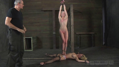 Bondage, domination and spanking for two sexy blondes part 1