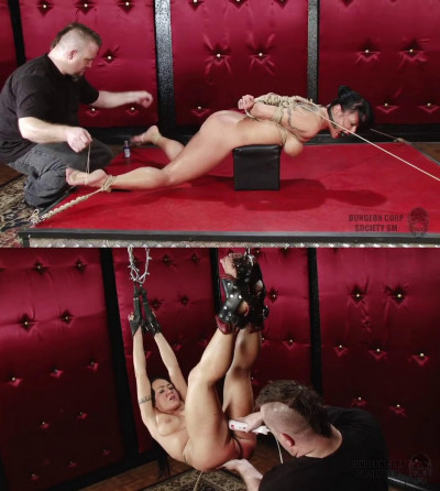 Bondage, spanking, strappado and torture for naked bitch part 2