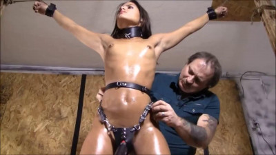 Super bondage, domination and torture for horny naked girl HD 1080p