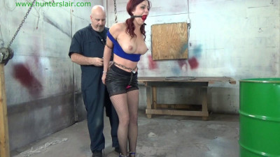 Sarah Brooke - Busty Redhead Handcuffed