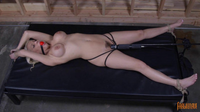 Bound Blonde With Big Tits And Bondage Orgasms