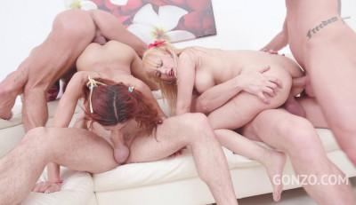Slim Babes Veronica & Natasha Assfucked With DP & Dap