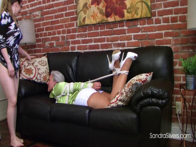Secretaries Sandra & Samantha Sneak Into the Boss's Office for a Hogtied
