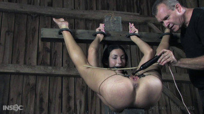 Tied up and fucked with a vibrator
