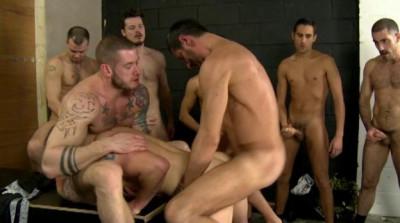 Twelve Fuckers In Hard Orgy