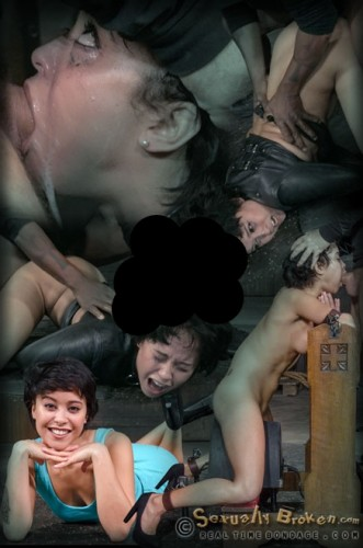 Nubile Mia Austin stuck in straightjacket, deepthroats in inverted suspension, rough BBC sex!