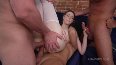 Russian Skinny Barcelona and her First Hard Double Anal
