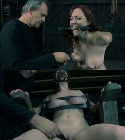 Tight bondage, torture and strappado for naked hot girl