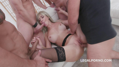 Polina Maxim four on one Balls Deep Anal Dp Gapes and Swallow