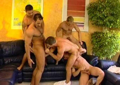 House Gangbang With Muscle Husbands