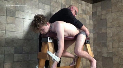 Back for another spanking, this time 21 year old Rick is tied