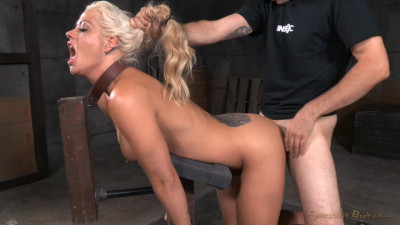 Busty Blonde Holly Heart Shackled Down Doggystyle Roughly Fucked With Epic Deepthroat (2015)