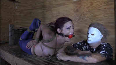 Bondage, domination, hogtie and torture for very horny girl Full HD 1080p